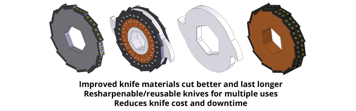 Shredder Knife configurations