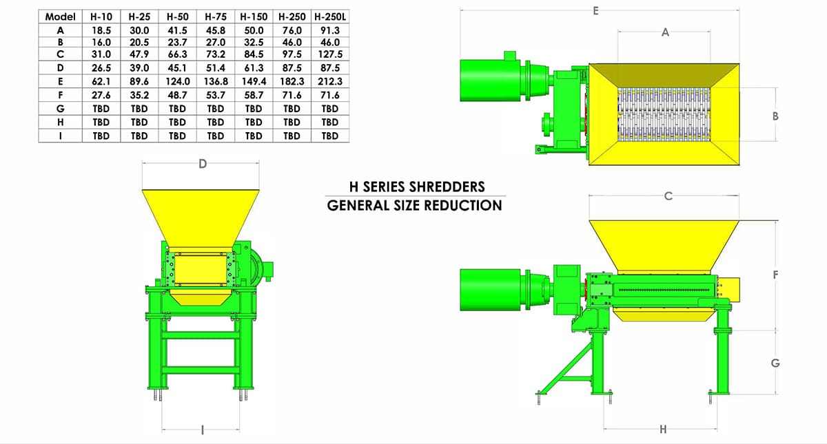 shredder specifications